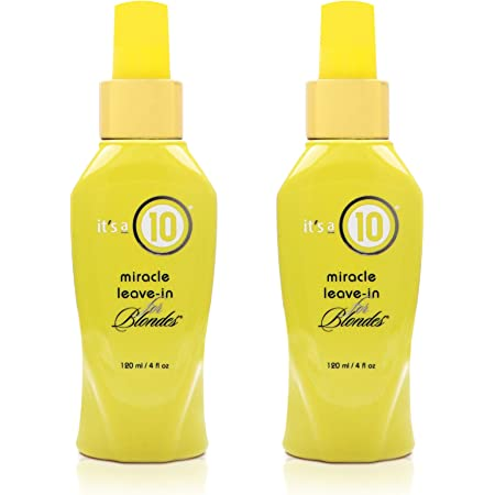 ITS A 10 by It's a 10 MIRACLE LEAVE IN PRODUCT FOR BLONDES 4 OZ (Package Of 2)