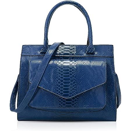 NICOLE & DORIS Damen Handtaschen Retro Schultertasche Krokodil Handtasche Frauen Umhängetaschen Tote Bag PU Leder für Büro,Shopper Blau