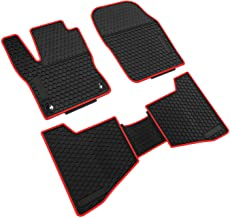iallauto Compatible for Ford Focus 2012-2018 Heavy Duty Rubber Front & Rear Floor Mats Liners Vehicle All Weather Guard Black Carpet