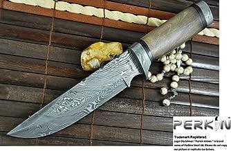 Custom Damascus Hunting Knife - Beautiful Bowie Knife -