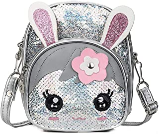2020 New Cute Kids Toddler Girls Sequin Rabbit Glitter Bling Schoolbag Backpack Travel Shoulder Bag Satchel