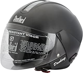 Steelbird SB-35 Cruze Natural Black with Plain visor,600 mm