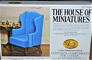 House of Miniatures Chippendale Wing Chair Kit/Circa 1750-1790 #40016