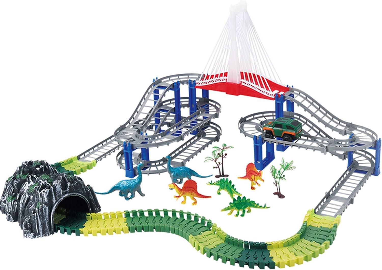 LINGLING Slot Car Race Tracks Car Flexible Track,Kid's Slot Car