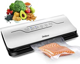 Vacuum Sealer,Betitay Automatic Vacuum Air Sealing System For Dry & Moist Food Preservation with Marinator for Food Save,Touch Screen Universal Voltage,Sous Vide Assistant with BPA Free Bag Roll