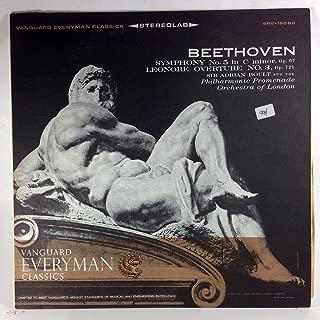 BEETHOVEN: SYMPHONY NO. 5 IN C MINOR, OP. 67 - LEONORE: OVERTURE NO. 3, OP. 72b - vinyl lp.