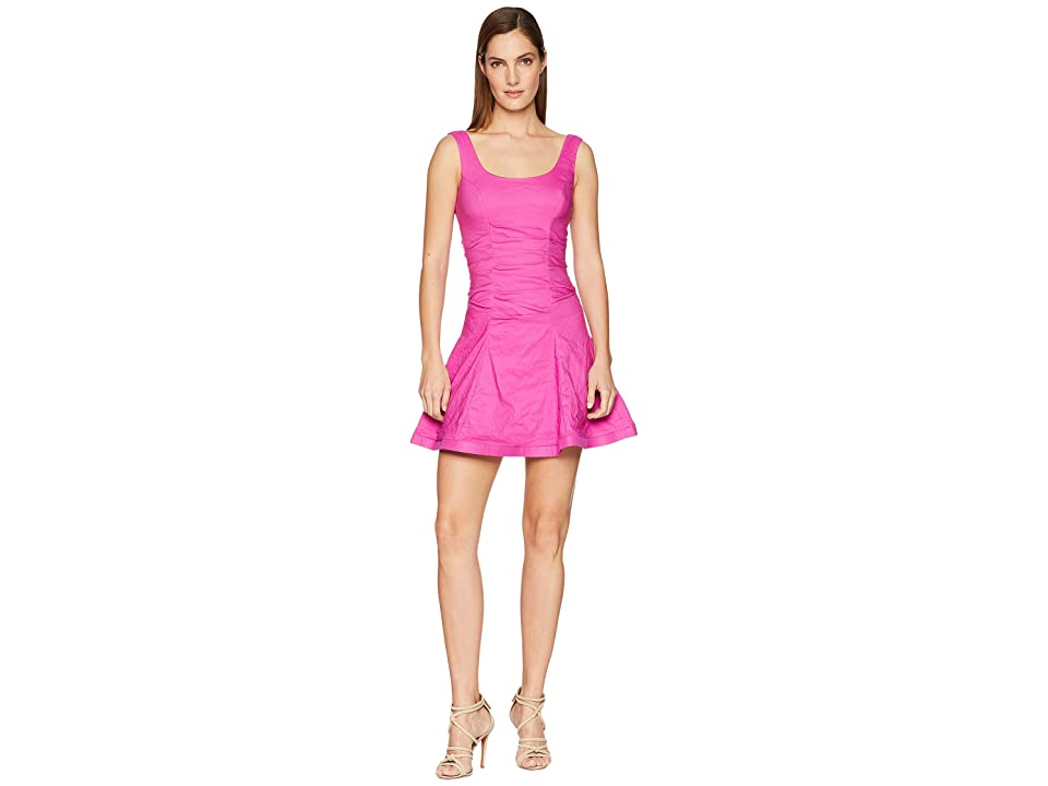 Nicole Miller Fit and Flare Dress (Shocking Rosa) Women