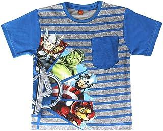 22-1977 Pijama de Verano para niños Modelo The Avengers Tallas 4-6-8 años
