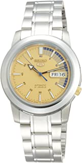 Seiko 5 Men's Gold Automatic Dial Stainless Steel Band Watch [SNKK 29- J1]