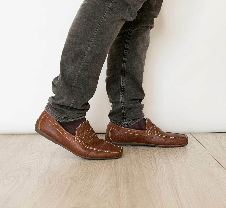 Zerimar Leder Bootsschuhe f/ür Herren Nautische Schuhe Mann Nautische Herren Sommer Mokassins Mann