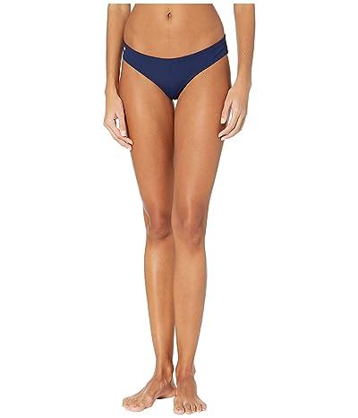 Maaji Sublime Reversible Signature Coverage Bikini Bottoms (Ink Blue Rib) Women