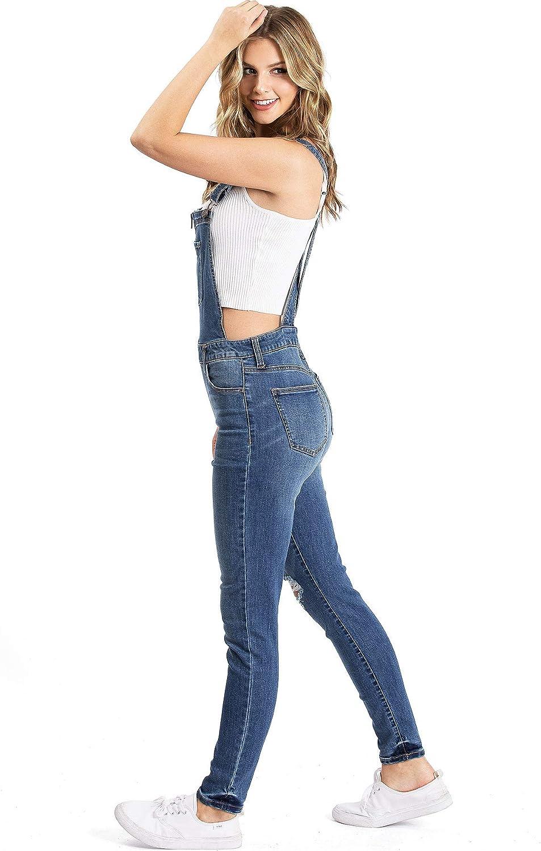 CELEB LOOK L88 Celebmodelook Kids GILRS Denim Stretch DUNGARE Shorts Playsuit