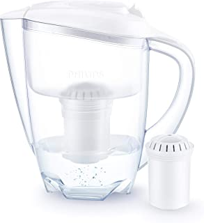 Philips - AWP2900 - Water Filter Jug - Reduces Limescale, Chlorine, Lead, Microplastics - Pitcher includes 1 Cartridge - 3...