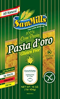 Sam Mills Pasta D'Oro Gluten Free, Conchiliette, 1-Pound (Pack of 6)