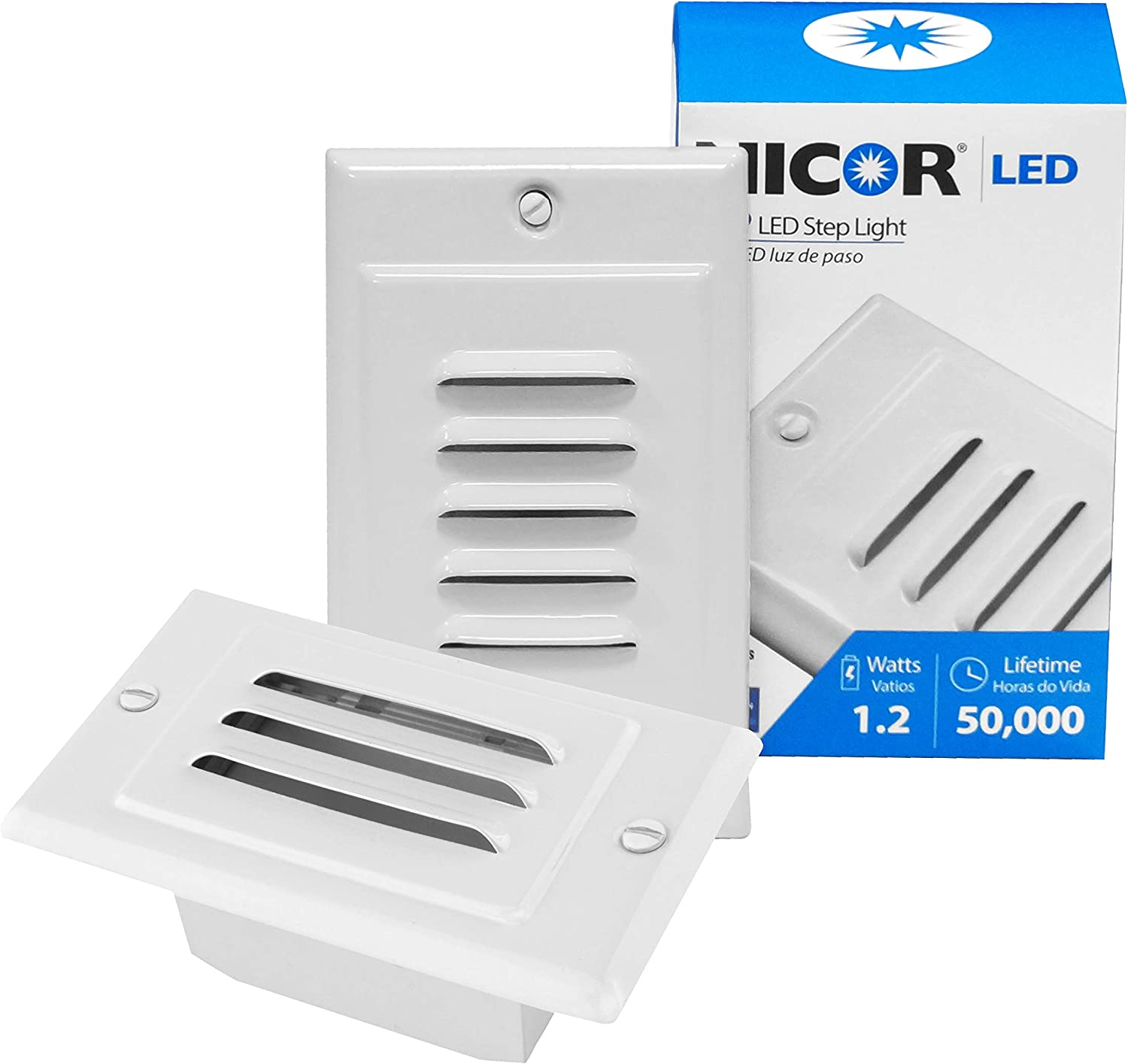 NICOR Ranking Elegant TOP3 Lighting LED Step Light with Vertical and Horizontal Facep