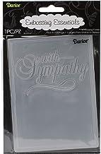 Darice embossing folder sjabloon, met sympathy-10,8 x 14,6 cm, plastic, transparant, 10,8 x 14,6 x 0,11 cm
