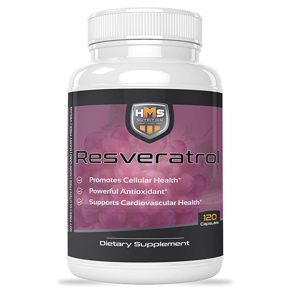 Resveratrol 1400mg 120 Capsules High Potency Trans-Resveratrol with Powerful Antioxidents Acai Grapeseed Green Tea Promotes Cellular and Cardiovascular Health Anti-Aging