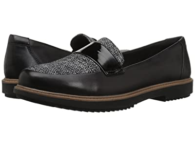 Clarks Raisie Arlie (Black Leather/Tweed Combination) Women