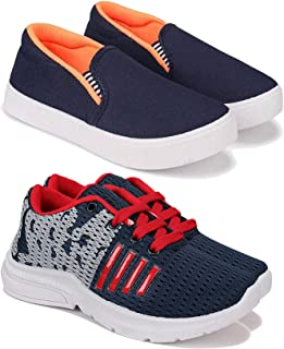 Camfoot Comfortable Pack of 2 Multicolor Collection of Sports Shoes for Kids & Boys (9266-1208)