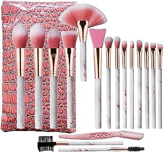 Marble Makeup Brushes Set, Audeful 17 Pcs Professional Make up Brush Tools kit Synthetic Kabuki Face Blush Lip Eyeshadow E...