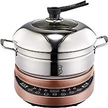 DYB Cuiseur instantané en Acier Inoxydable 304 Cuiseur Vapeur Pot Réchaud électrique Cuiseur Vapeur électrique (Couleur: Or)