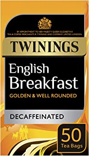 Twinings Té English Breakfast Descafeinado - 50 bolsitas