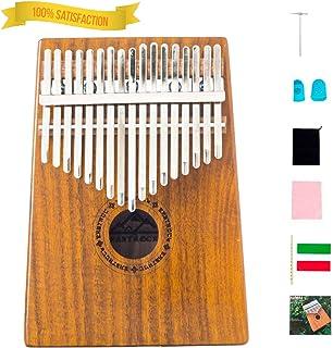 EastRock Kalimba 17 Keys Thumb Piano with Tune Hammer,Portable Musical Instrument,Gifts for Kids and Adult Beginners Kalimba Thumb Piano(Mbira Acacia/Koa)