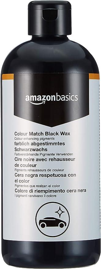 Amazon Basics Wachs Für Autolacke Mit Der Gleichen Farbe Schwarz 500 Ml Flasche Mit Klappdeckel Auto
