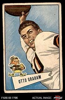 1952 Bowman Small # 2 Otto Graham Cleveland Browns-FB (Football Card) Dean's Cards 1.5 - FAIR Browns-FB