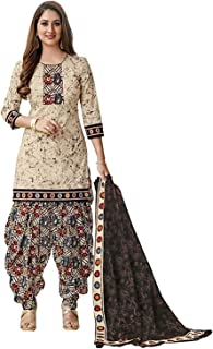 Y2Y Women's Printed Unstitched Salwar Suit Dress Material (Free Size_Multi Color)