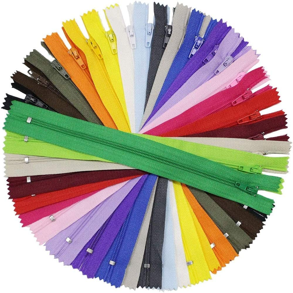 Special price for a limited time Nylon Coil depot Zippers CDDLR 100PCS Inch Colorful Sewing 9