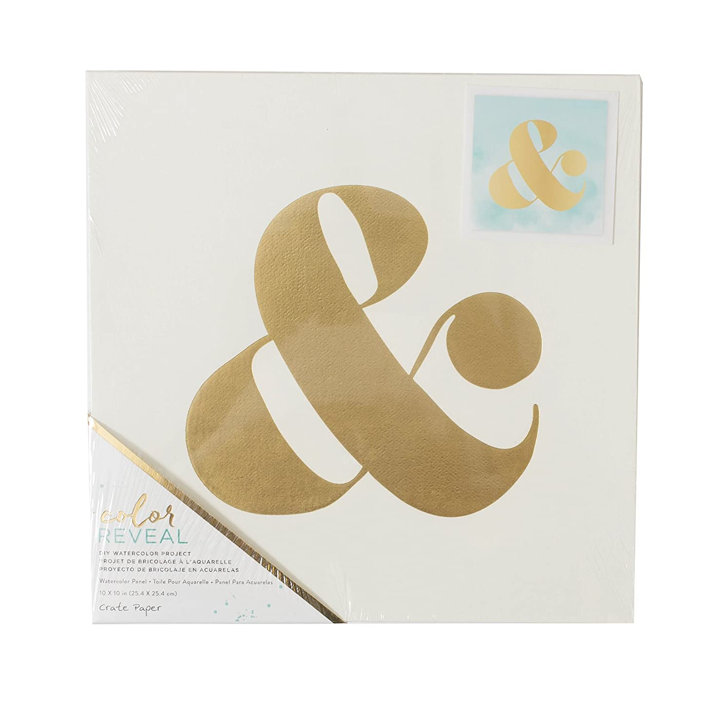 American Crafts Crate Paper Watercolor Panel Color Reveal 10 x 10 Inch Ampersand