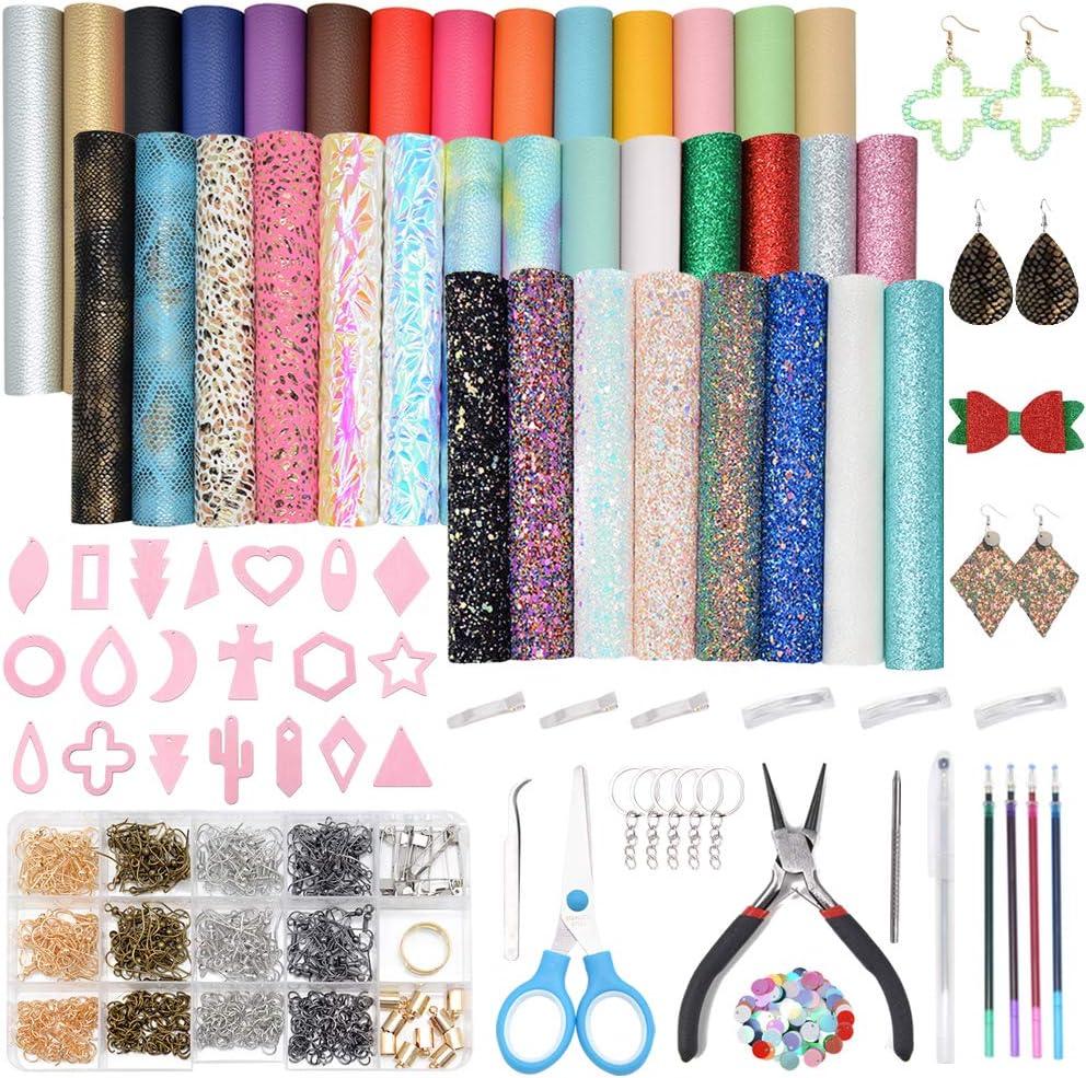 VICOVI 705pcs Leather Earring Making Kit - Include 36pcs 7 Kinds