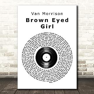 Brown Eyed Girl Vinyl Record Song Lyric Print