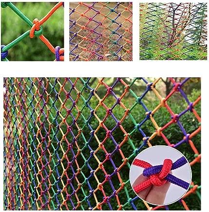 HWJ Child Safety Net Stair Protection Net Shatter-resistant Net Indoor Color Decorative Net Nylon Net Shatter-resistant Net Hand-woven Mesh Cat Net Bird Net  Size 2x9m