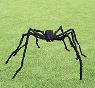 Anditoy 6.6ft Giant Halloween Spider Large Fake Scary Hairy Spiders Props for Halloween Decorations Outdoor Halloween Deco...