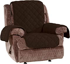 Sure Fit Home Décor Deluxe Non Skid Waterproof Recliner Furniture Cover, Chocolate