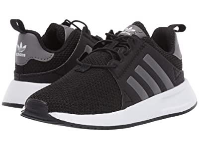 adidas Originals Kids X_PLR EL I (Toddler) (Black/Grey/White) Boys Shoes