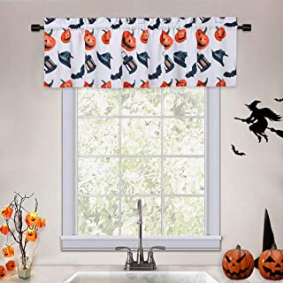 Black Polyester Spider Lace Small Curtain Stove Fire Towel Table Lamp Window Door Scarf Ghost Festival Fools Day Covers Theme Party Decoration XINdream 2PCS Halloween Bat Web Fireplace Valances
