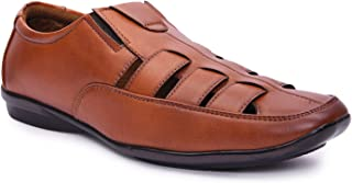 Andrew Scott Men's Synthetic Leather Casual Sandals
