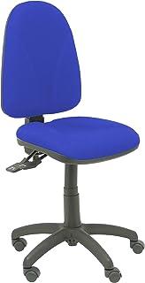 Piqueras y Crespo Silla de Oficina ergonómica con Mecanismo asincro y Regulable en Altura - Asiento y Respaldo tapizados en Tejido Bali Color Azul. Espuma con Forma anatómica Modelo Algarra