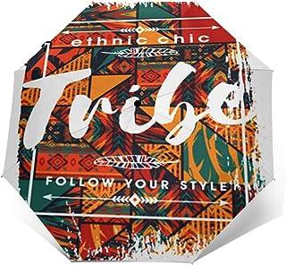 Paraguas Plegable Automático Impermeable Lema Boho Chic, Paraguas De Viaje Compacto a Prueba De Viento, Folding Umbrella, ...