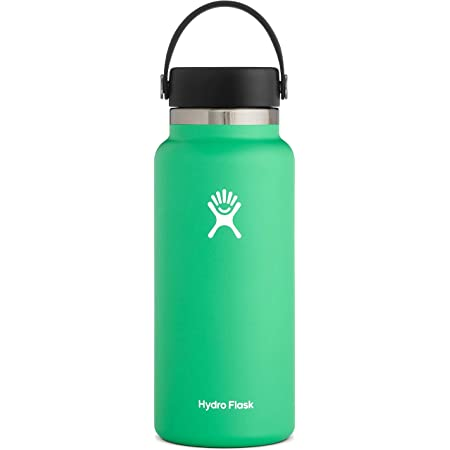 Hydro Flask Water Bottle - Stainless Steel & Vacuum Insulated - Wide Mouth 2.0 with Leak Proof Flex Cap - 32 oz, Spearmint