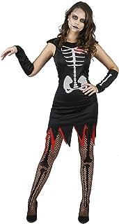 Generique - Disfraz de Esqueleto corazón Mujer M