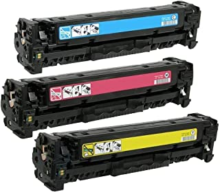 HQ Supplies Compatible Replacement for 3 HP 131A Toners, HP CF211A, CF212A, CF213A Toner Set for for HP LaserJet 200 Color M251n, M276n, M251nw, M276nw, M251n, M276n, M251nw, M276nw Printers