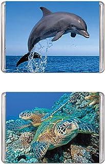 Minipix Puzzles - Bundle of 2 Mini Puzzles - Bottlenose Dolphin & Green Sea Turtles