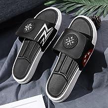ShSnnwrl Diapositives de Tendance pour Hommes Tongs d'été Pantoufles Hommes Chaussures de Plage en Plein air Sandales Clas...
