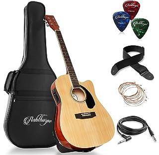 Ashthorpe Cutaway Full Size Package - گیتار الکتریک آکوستیک و الکتریکی Thinline - Premium Tonewoods - طبیعی
