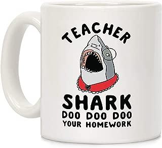 teacher shark doo doo mug