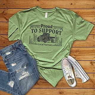 Farmer Shirt, Support eat local farmers market soft unisex bella canvas t shirt